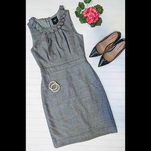 J. Crew Suiting wool blend sheath dress